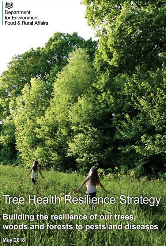 Cover of the UK tree health resilience strategy